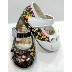 کفش مجلسی دخترانه گلدار (کد 156)