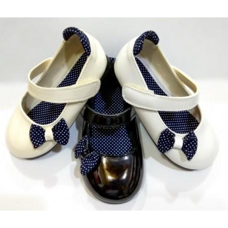 کفش مجلسی دخترانه پاپیون خالدار (کد 16)